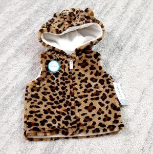 Carter's baby girl fur vest